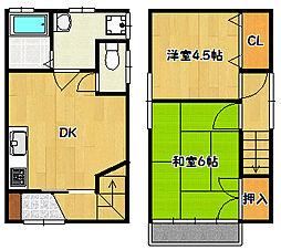 [一戸建] 兵庫県神戸市兵庫区下沢通4丁目 の賃貸【/】の間取り