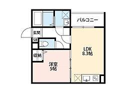 La Luce 尼崎[2階]の間取り