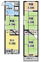 [テラスハウス] 大阪府門真市島頭3丁目 の賃貸【/】の間取り