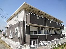 愛知県豊田市西岡町二本木の賃貸アパートの外観