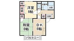 コンフォート[A203号室]の間取り