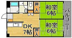 福岡県福岡市早良区西新4丁目の賃貸マンションの間取り
