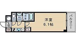 S-RESIDENCE南堀江 7階1Kの間取り