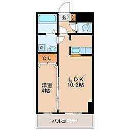 フェリシダ東仙台[4階]の間取り