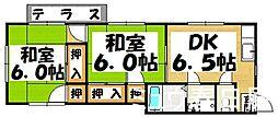 福岡県春日市岡本7丁目の賃貸アパートの間取り