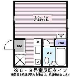 東京都八王子市元本郷町1丁目の賃貸アパートの間取り
