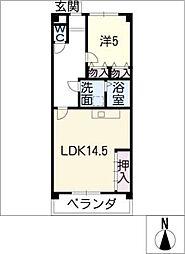 シャイニングII[6階]の間取り