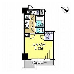 エスティメゾン川崎II[0904号室]の間取り