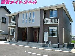 三重県津市一身田大古曽の賃貸アパートの外観
