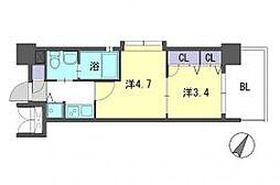 F・PARC西新[6階]の間取り