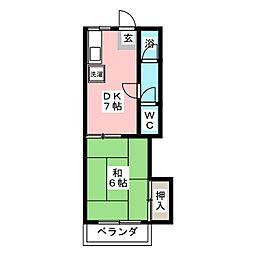 ファミール太子[2階]の間取り