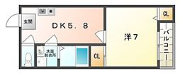 K'sマンション[3階]の間取り