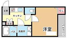 グラディ—ド神崎川[203号室号室]の間取り