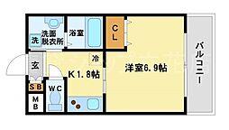 兵庫県尼崎市七松町3丁目の賃貸マンションの間取り