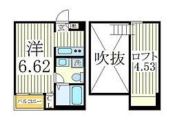 コティ2[2階]の間取り