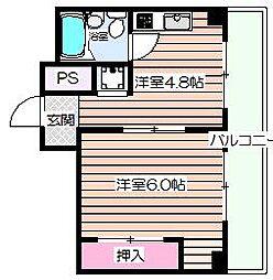 ビガーポリス132マーブルハウス[5階]の間取り