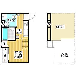 アキラ大阪[1階]の間取り