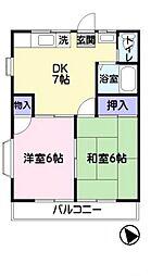 トヨタハイツ[203号室]の間取り