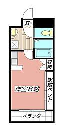 アンシャンテ浅生[201号室]の間取り
