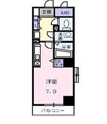 レフィナードトーレ[5階]の間取り