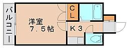 キャンパスシティ箱崎[5階]の間取り