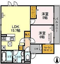 ディールーム苅田[1階]の間取り