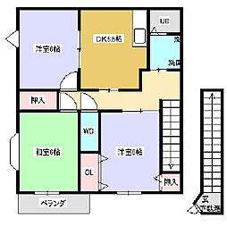 ハイステージ五反田 3DK[A201号室]の間取り