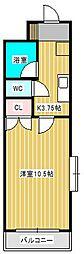 新松戸CSビル[4階]の間取り