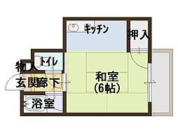 第三ササイマンション[4階]の間取り
