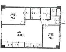 安堂寺マンション[201号室]の間取り