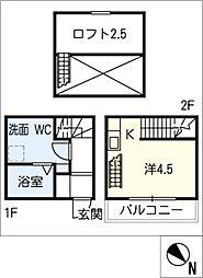 [タウンハウス] 愛知県清須市西枇杷島町北二ツ杁 の賃貸【/】の間取り