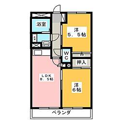 ライブパレス花水木[4階]の間取り