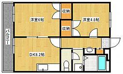 レジデンスHigh field[3階]の間取り