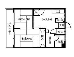 小笹カステリア[5階]の間取り