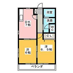 フルール I[1階]の間取り
