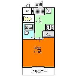 メゾンフェアリー[3階]の間取り