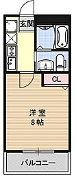 フラッティ吉野町B[106号室号室]の間取り