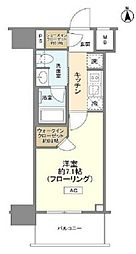 都営浅草線 大門駅 徒歩8分の賃貸マンション 2階1Kの間取り