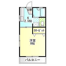 コーポミノシマ[203号室]の間取り