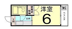 ロイヤルハイツ上賀茂[105号室]の間取り
