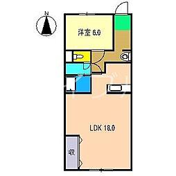 メゾンヤマサキ[1階]の間取り