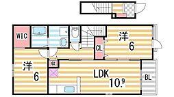 リエート 新田I[201号室]の間取り