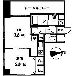 ファミーユ小和田[403号室]の間取り