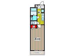 リブリ・レオサードII 1階1Kの間取り