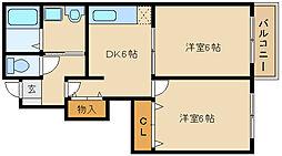 パーシモンハウス[1階]の間取り