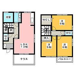 [テラスハウス] 愛知県小牧市小牧原2丁目 の賃貸【/】の間取り