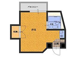 松崎マンション塚本ビル[502号室]の間取り