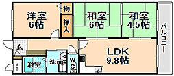兵庫県伊丹市野間1丁目の賃貸マンションの間取り