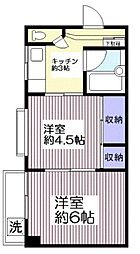 神奈川県横浜市南区三春台の賃貸マンションの間取り