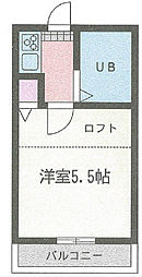 HSパークサイド北久里浜[203号室]の間取り